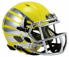 Oregon Ducks Speed Revolution Riddell Liquid Lightning Yellow and Chrome Mini Helmet