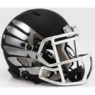 Oregon Ducks Speed Revolution Riddell Titanium Black Eclipse Black and Chrome Mini Helmet