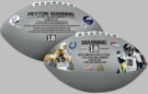 Peyton Manning Career Accomplishments Full Size Football