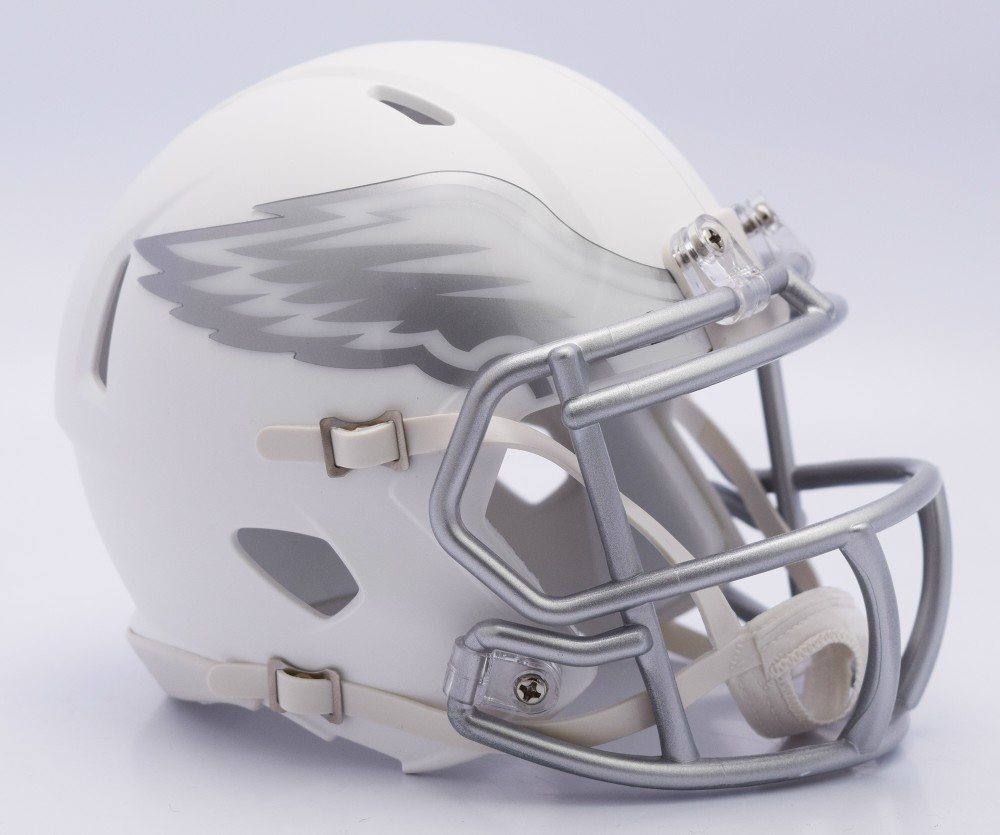 Philadelphia Eagles - ICE alternate Speed Riddell Mini Football Helmet