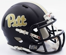Pittsburgh Panthers Matte Navy Speed Riddell Mini Football Helmet