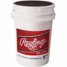 Rawlings 6 Gallon Coaches Baseball / Ball Bucket - New 2014