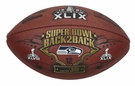 Seattle Seahawks 2x Super Bowl Champs - Wilson Official Leather NFL� SUPER BOWL XLIX Full Size Game Football
