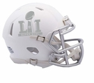 Super Bowl 51 LI - Riddell Speed Mini Football Helmet