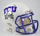 TCU Texas Christian University Chrome Speed Revolution Riddell Mini Football Helmet