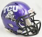 TCU Texas Christian University Speed Revolution Riddell Mini Football Helmet