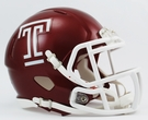 Temple Owls Speed Revolution Riddell Mini Football Helmet