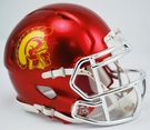 USC Trojans Speed Revolution Riddell Chrome Mini Helmet