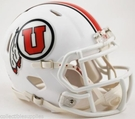 Utah Utes White 2015 Alt Speed Riddell Mini Football Helmet