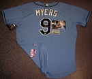 Wil Myers - Autographed Tampa Bay Rays , Columbia Blue Majestic Official Authentic Jersey