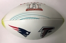 Wilson Official Leather NFL® SUPER BOWL 51 LI Full Size Game Football - with Broncos and Panthers pad printed on ball