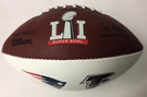 Wilson SUPER BOWL 51 LI Mini Signature Series Football - Patriots & Falcons Logo