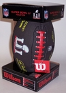 Wilson SUPER BOWL 51 LI Mini Size Black Sponge Football