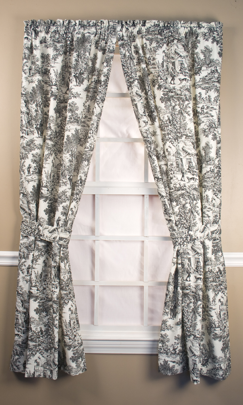 Black toile shower curtain - You May Also Like Victoria Park Toile Tailored Curtain