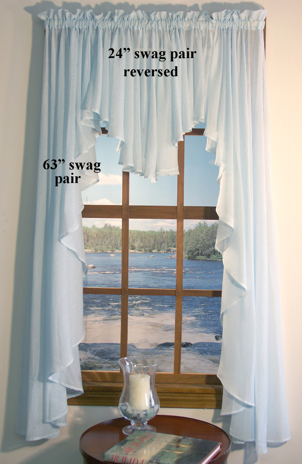 Sea Glass Full Bodied Swag Thecurtainshop Com