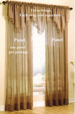 """84"""" Tailored Panel - Evelyn Crinkled Voile - CLEARANCE"""