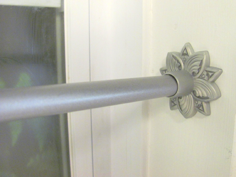 decorative spring tension rod 7 16 inch diameter pewter