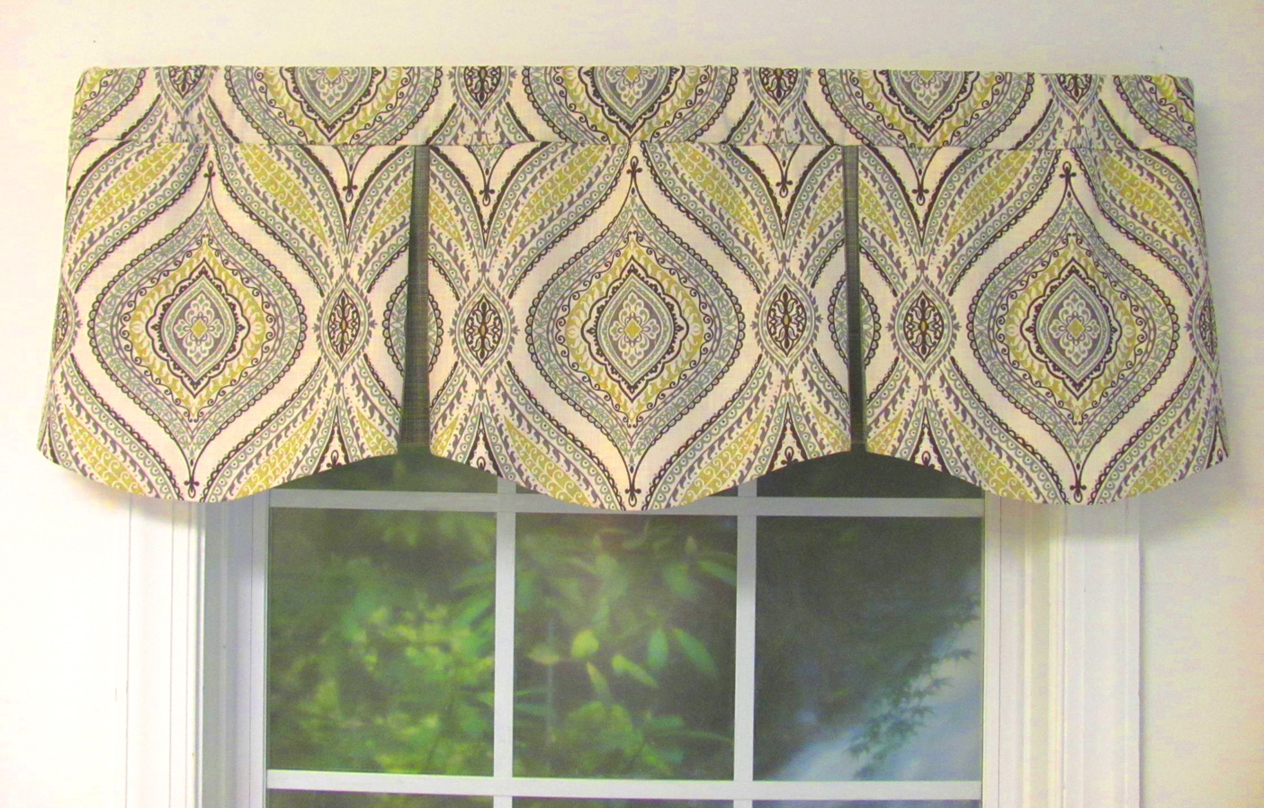 Shaped Valances Solid Patterned Cornice Box Pleat