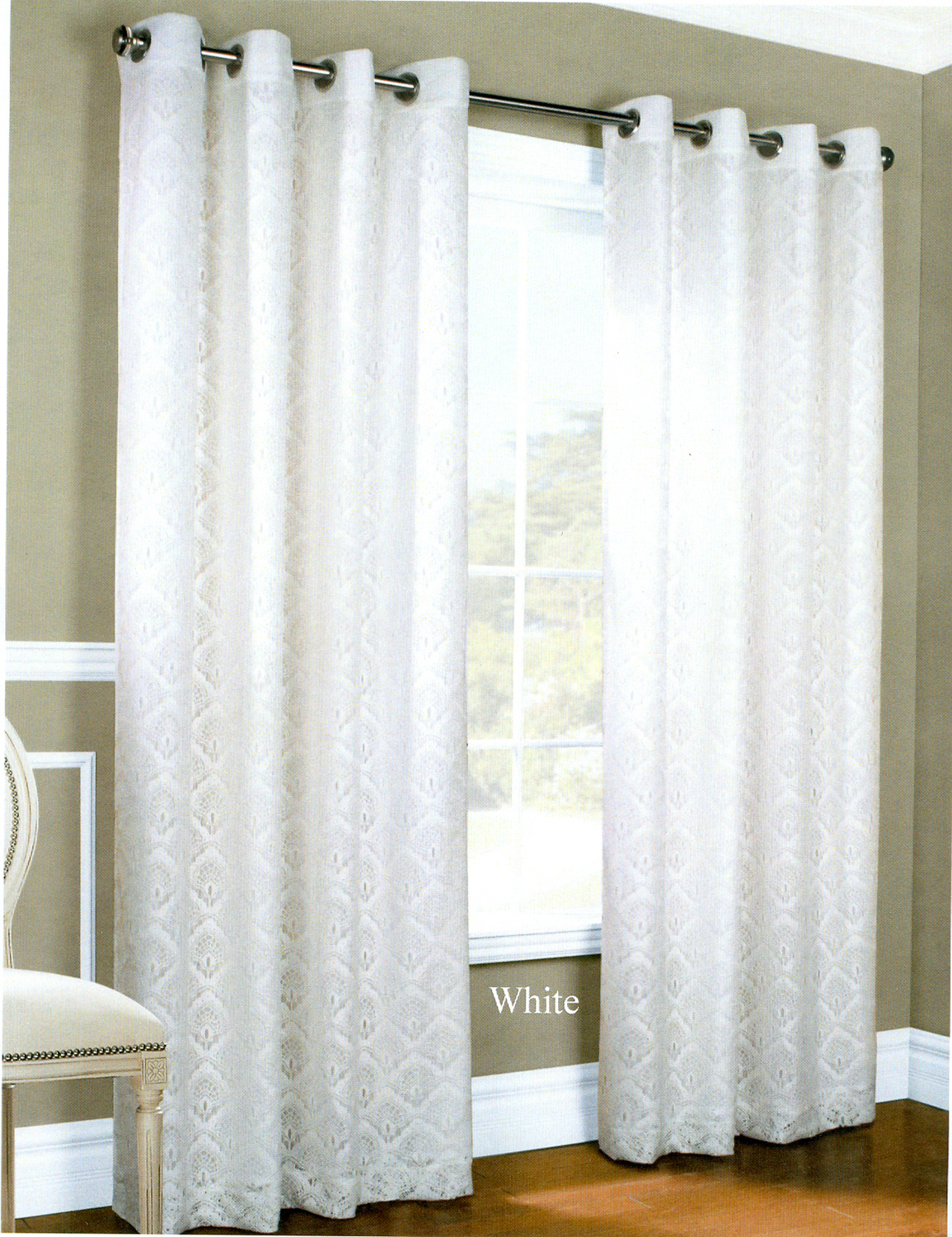 Grommet Curtains Tab Top Curtains - Grommet Curtain panels