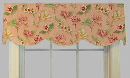Cornice Valance  (not lined) - Florabella Blush - CLOSING OUT
