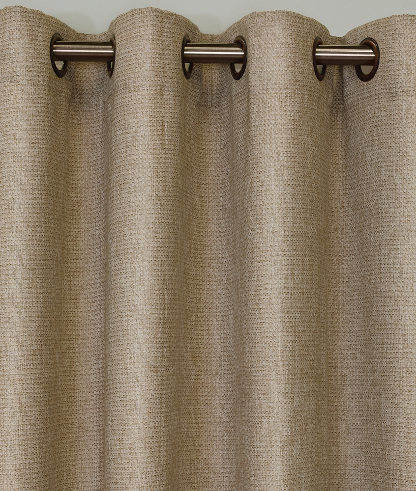 The Faux Jute Grommet Curtain Panels Thecurtainshop Com