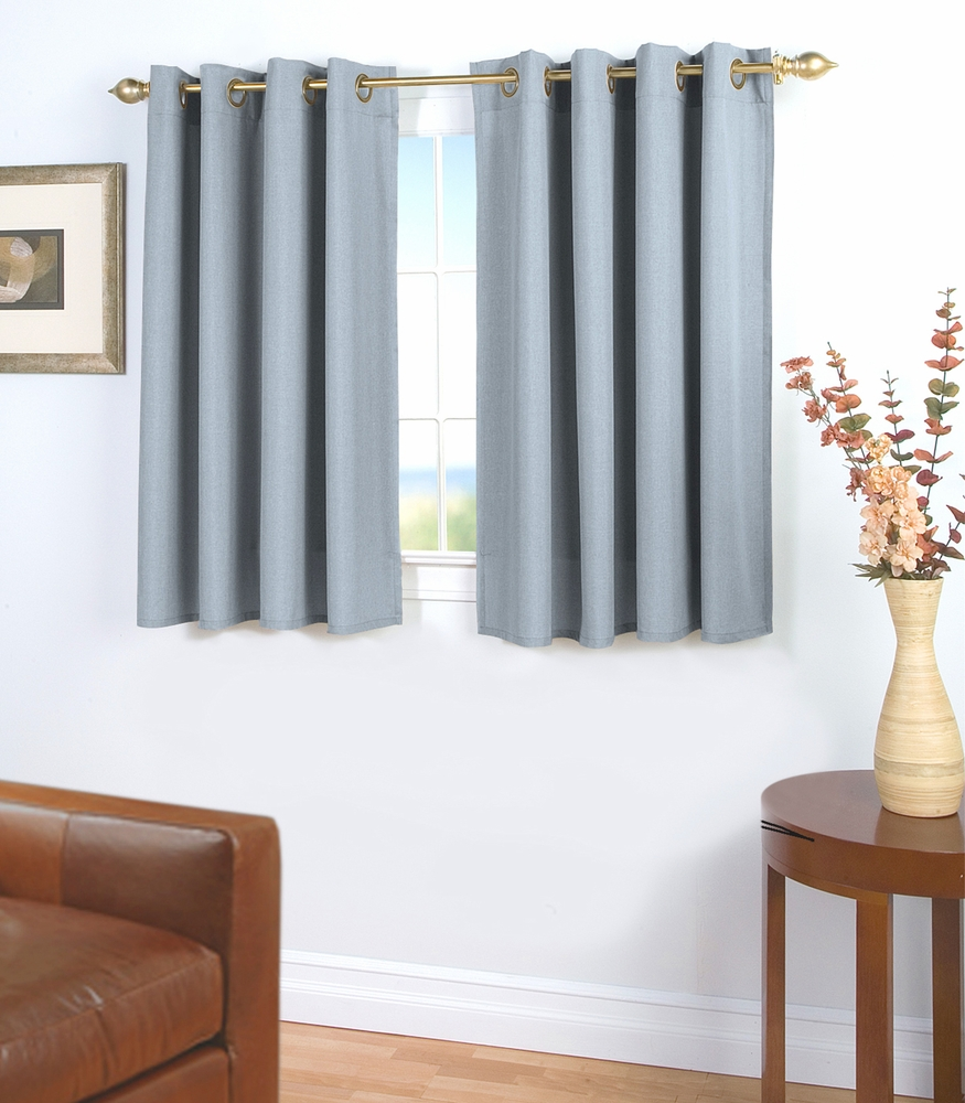 Glasgow Grommet Curtain With Wand For Short Windows
