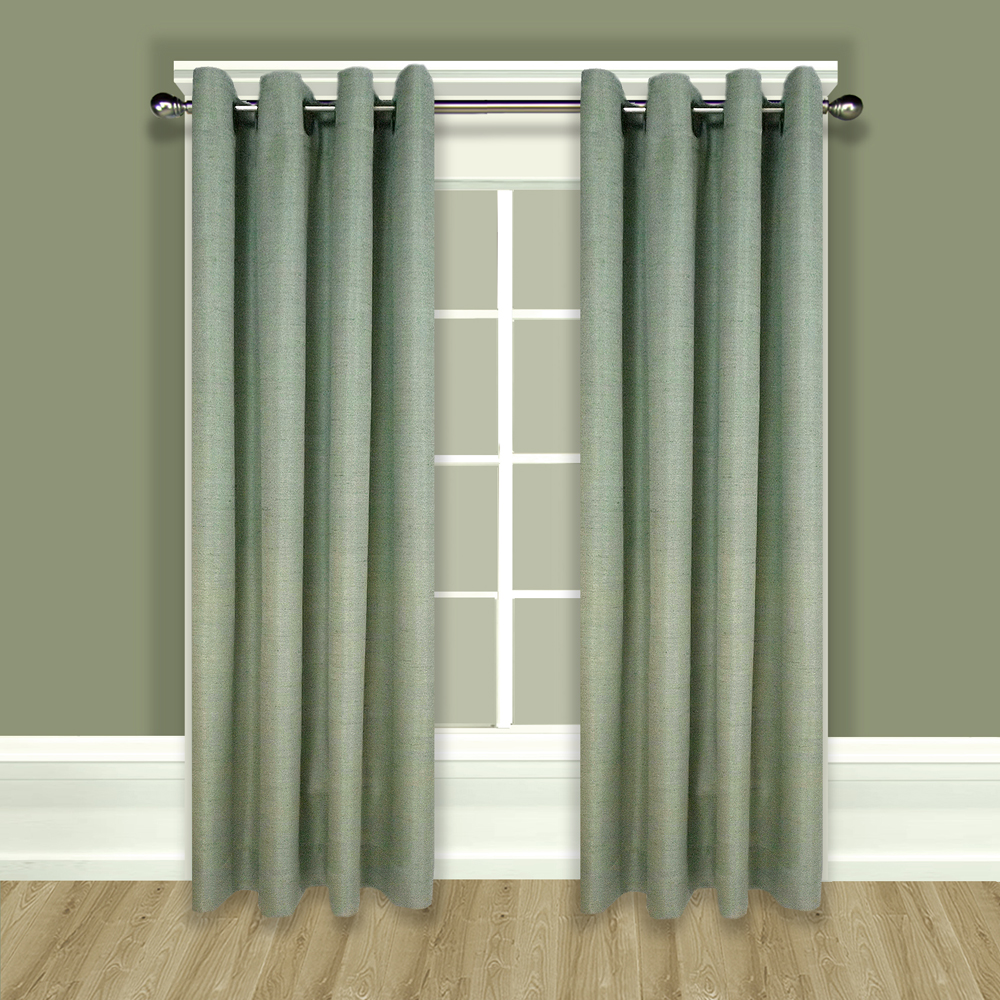 Grasscloth Lined Grommet Top Curtain Panels