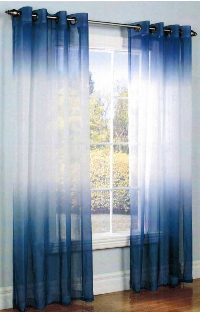 Ombre Semi Sheer Grommet Top Curtain Panel - Legacy