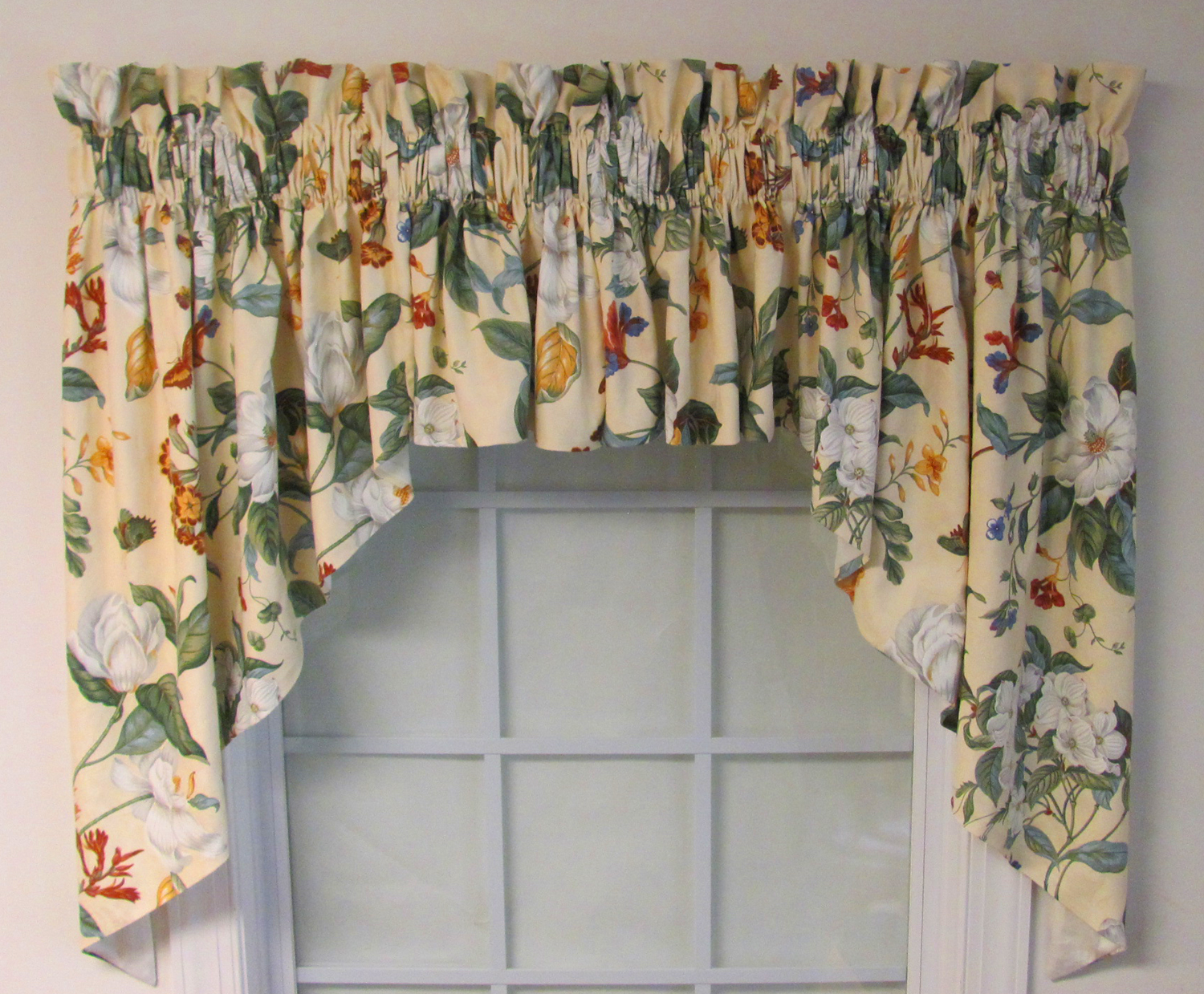 Picture Window Valance 3 Rod Pocket Riveria Duchess Swag
