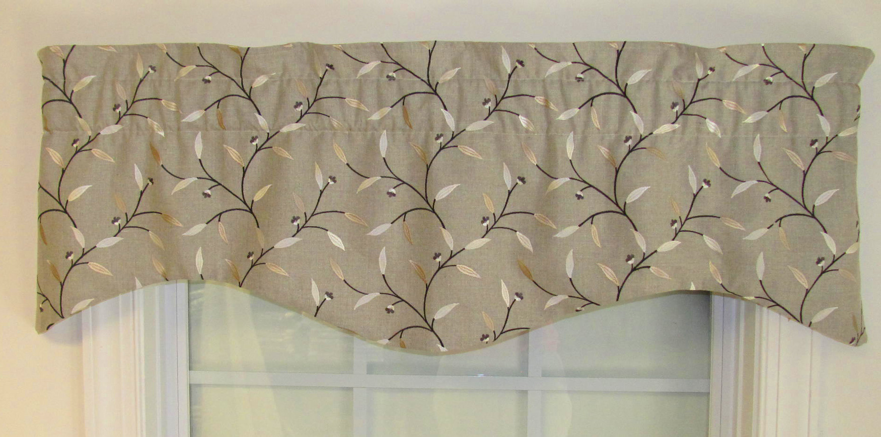 Shaped Valances: Solid, Patterned, Cornice, Box Pleat