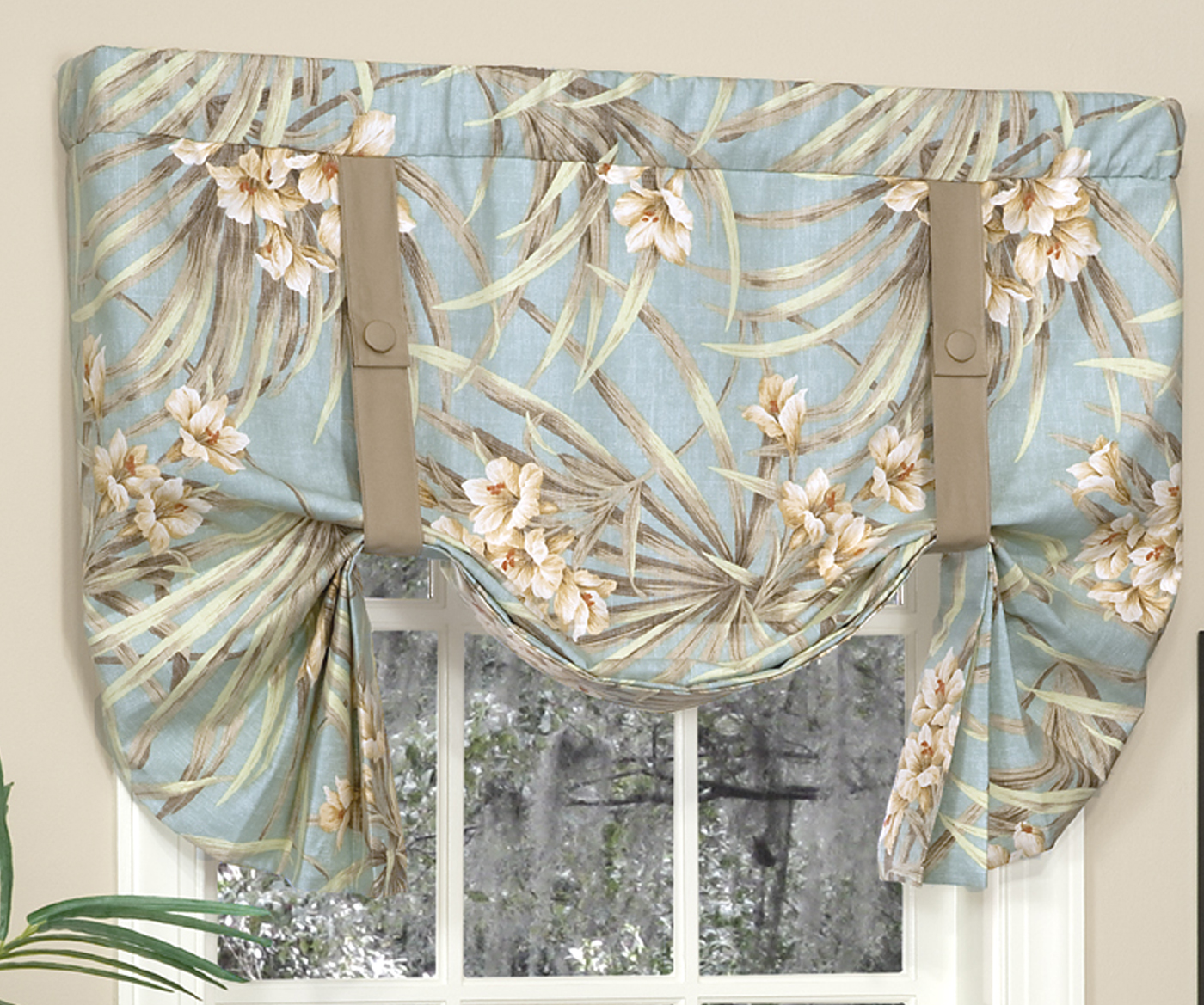Tie Up Kitchen Curtains: Tie-Up Valances: Solid-Colored, Patterned, Prints