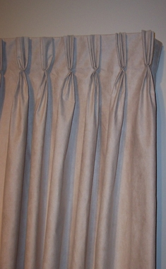 "Media BLUE Faux Suede Insulated Pinch Pleated Drapery Pair 48""W x 84""L  - CLEARANCE"