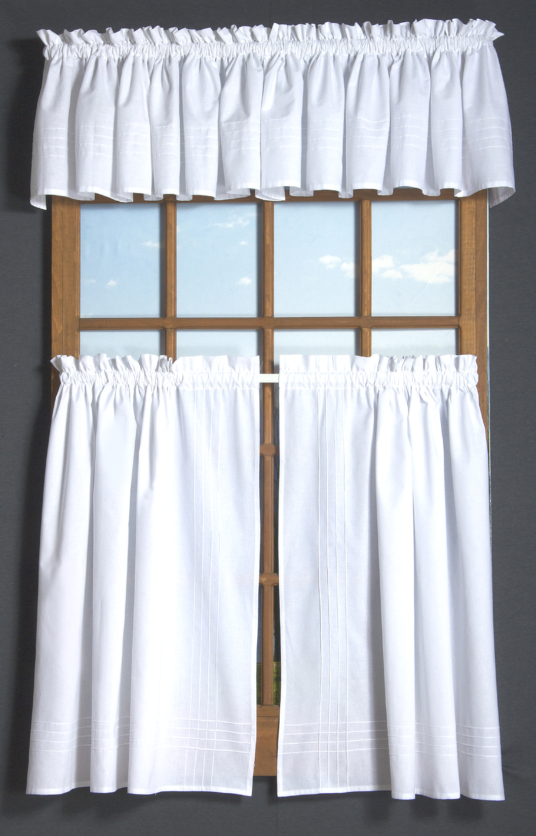 Pin Tuck Tier Curtain Pair