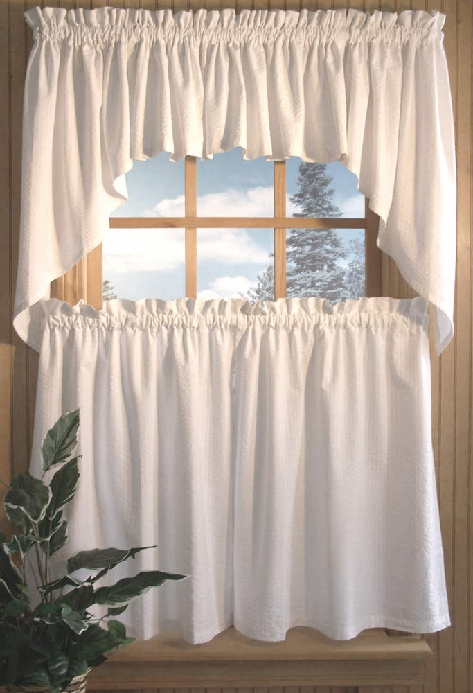 Seersucker Tier Curtains
