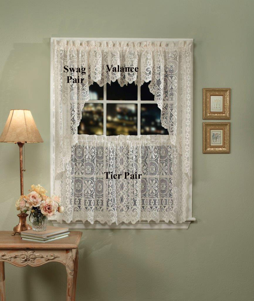 Lace Valances: Balloon Shades, Swags, M Valances