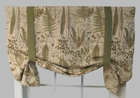 Tiverton Butterfly Valance Botanical Toile Fabric