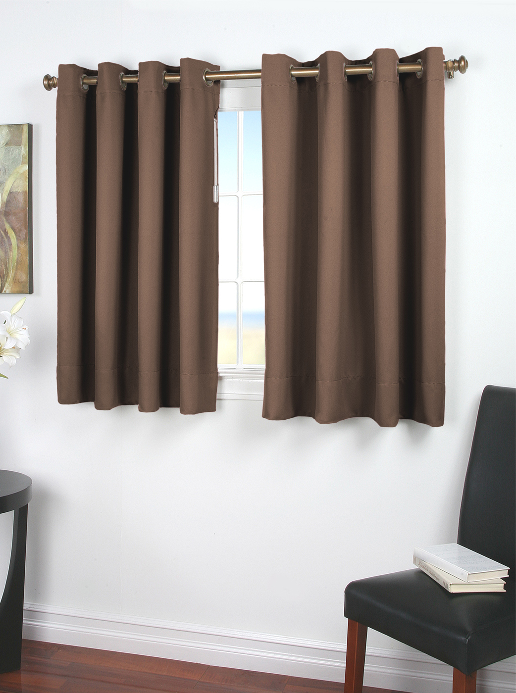 Ultimate Black Out Grommet Curtain With Wand For Problem Windows