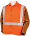 Black Stallion Hybrid Welding Jacket w/Silver Reflectives JH1012-OR