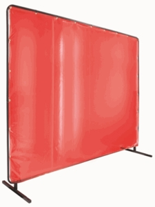 Black Stallion Welding Screen - Orange Vinyl 64-5186