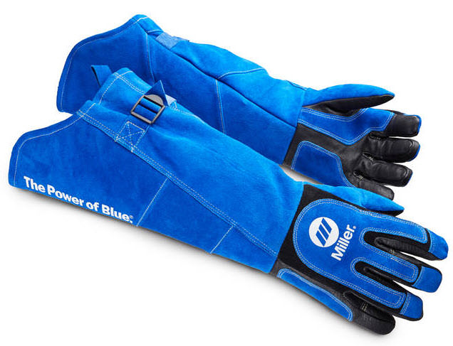 Miller Welding Gloves -Heavy Duty MIG/Stick Long Cuff 263342