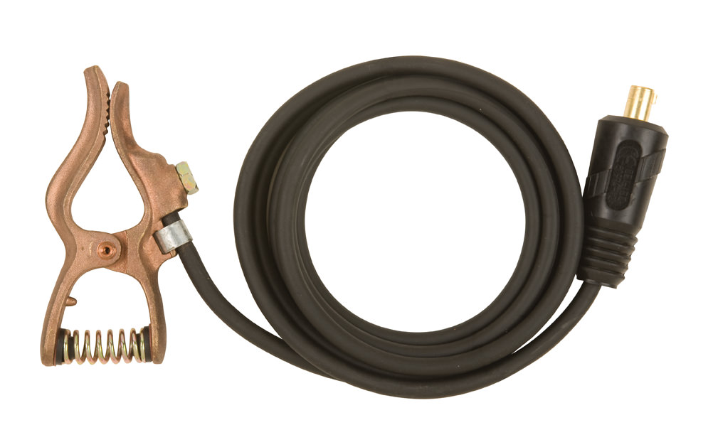 Tweco Ground Clamp & Cable Assembly - No. 2, 10 ft. WS200G10