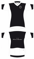 Club Rocchetto White and Black SS Cycling Jersey