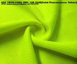 G03 TECH COOL DRY 128 GSM [Solid Fluorescence Yellow]