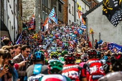 Liege-Bastogne 2014 Mass Riders - Photo on Metal