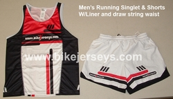 Mens Professional Grade running top and shorts SAMPLE