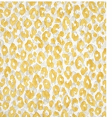Animal Print Decorative Fabrics Yellow Swatch