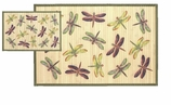 Bamboo Mat 3x5 Dragonfly Purple
