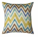 Chevron Blue Pillow Without Insert
