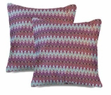 Chevron Pillows Red Missoni Covers