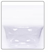 Clear Plastic Bowl - Large-Clear